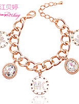 Women's Fashion Personality Alloy Crystal Chain & Link Bracelets Jewelry Gift Party Accessories