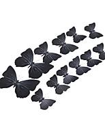 12pcs 3d pegatinas de pared de la mariposa de simulación arte calcomanías
