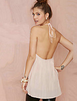 Women's Sexy Summer Beach Holiday Casual Backless Chiffon Vest Tank Top