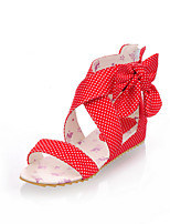 Women's Shoes Fabric Flat Heel Peep Toe/Comfort/Ankle Strap Sandals Outdoor/Dress/Casual Black/Pink/Red/Beige