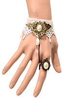 Vintage Half Drip Pearl Bracelet With Ring