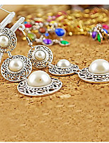 National Wind retro hat three pearl earrings ring temptation to go home