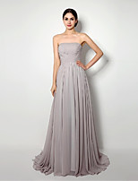 Cocktail Party/Formal Evening Dress Sheath/Column Strapless Sweep/Brush Train Chiffon Dress