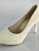Women's Shoes Symphony Crystals Pumps/Heels Wedding/Office & Career/Party & Evening/Dress White