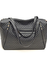 Women's Casual Solid PU Leather Handbags