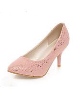 Women's Heel Heels Pumps/Heels Office & Career/Dress/Casual Black/Pink/White