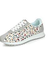 Zapatos de mujer - Tacón Plano - Punta Redonda - Sneakers a la Moda - Casual - Tela - Negro / Rosa / Blanco / Gris