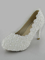 Women's Shoes  Stiletto Heel Heels Pearl Pumps/Heels Wedding/Party & Evening/Dress White