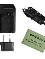 12l batería de la cámara 1910mah enchufe + cargador de coche + eu para Canon G1X marca ii n100 mini X
