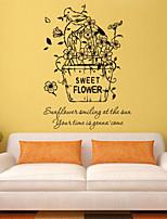 decalques de parede do estilo adesivos de parede doce flor palavras inglesas&cita parede adesivos pvc