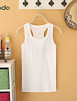 Women's White/Black/Gray T-shirt Sleeveless