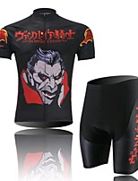 Vampire Cycling Wear Short Sleeved Suit, Moisture Cycling Wear, Motor Function Material