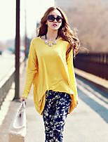 Ronde hals - Polyester Vrouwen - T-shirt - Lange mouw
