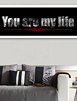 E-HOME® Framed Canvas Art, You Are My Life Framed Canvas Print