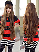 Japanese and Korean Fashion Color Brown Cosplay Long Hair Wig