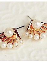 Lady Fashion Exquisite After Hanging Cute Little Pearl Earrings