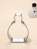 Fashion Lady's Perfume Bottle Shape Cookie Cutters Fruit Cut Molds Stainless Steel