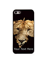 Personalized Gift The Lion and The Leap Design Aluminum Hard Case for iPhone 5/5S