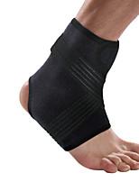 Ollas Unisex Outdoor Fitness Black Nylon Lycra Fiber Adjustable Elastic Ankle Protective Gear with Sponge S9600