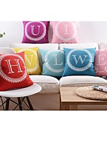 Soft Fabric English Letters Cushion Cover in 18