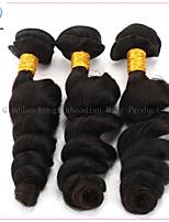 tre stykker topp kvalitet hot salg naturlige farge løs bølge malaysiske hår