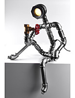2015 Robot Light Modern Industrial Water Pipe Light Led Desk Lamp Vintage Coffee Bar Shop Loft Style Metal Iron-B009
