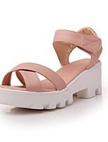 Women's Shoes Wedge Heel Wedges/Slingback Sandals Dress Pink/White/Beige