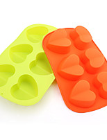 Heart Shaped Silicone Baking Molds Ice/ Chocolate/ Cake Mold (Random Color)