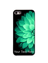 Personalized Gift Half Beautiful Flower Design Aluminum Hard Case for iPhone 4/4S