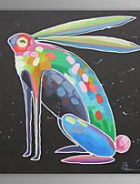 pittura a olio moderna mano coniglio tela astratta con telaio allungato dipinto