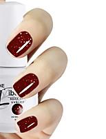LIBEINE 1pc Soak Off 15 ML UV Gel Nail Polish Color Gel Polish 003# Night Queen Glitter Red