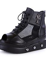 Women's Shoes  Synthetic  Wedge Heel  Peep Toe  Sandals  Outdoor  Casual