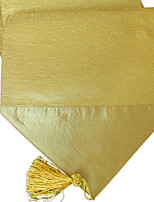 Sparkle Stitch Covered Patchwork with Tassel Gold Table Runner