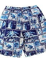 Men's Printing Summer Beach Casual Shorts 1/2 Pants (Microfiber)