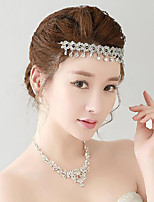 Rhinestones Titanium Jewelry Sets/Necklace with Earrings with Head piece