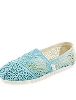 Women's Shoes Lace Flat Heel Comfort Flats Office & Career/Casual Green/Pink