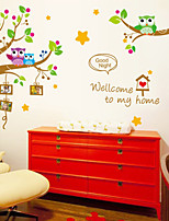 Wall Stickers Wall Decals Style Lovely Owl Tree PVC Wall Stickers