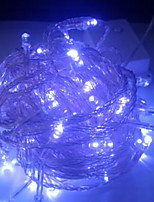 4W 10 Meter Long 100pcs LED String Light with AC110-220V Input PVC Transparent, Blue Color
