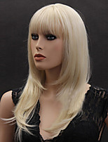 Blone Straight Hair Wigs Synthetic Hair Wigs Europe Style