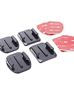 Ourspop GP10  2x Flat & 2x Curved Mounts with 3M Adhesive Pads, for GoPro Hero 4 3+/3/2/1