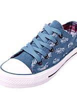 Scarpe Donna Di corda Plateau Comoda/Punta arrotondata Sneakers alla moda Casual Blu/Blu scuro