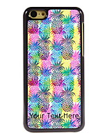 Personalized Gift Pineapple Pattern Aluminum Hard Case for iPhone 5C
