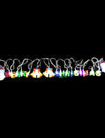 2W 4 Meter Outer Diameter 20pcs Bulb LED Modeling String Lighting  Merry Christmas and Snowman Lights, RGB Color