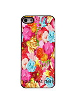 Personalized Gift Colorful Flower Design Aluminum Hard Case for iPhone 4/4S