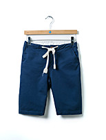 Men's Casual/Plus Sizes Pure Shorts Pants (Cotton/Linen)