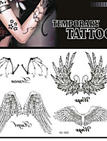 Tattoo Stickers Non Toxic/Pattern/Lower Back/Waterproof Animal Series Adult Black Paper 1 17*16 Wing
