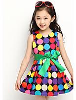 Girl's Color Dot Dress