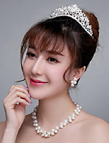 Hot sale Rhinestones Titanium Jewelry Sets/Necklace with Earrings with Tiara