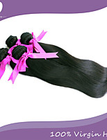4pcs / lot vierge brésilienne de cheveux 100% cheveux remy brésiliens droite 8