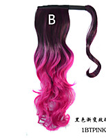 Curly Magic Paste Ombre Color Ponytail Extensions for Women